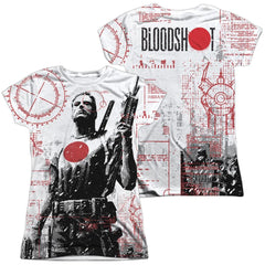 Bloodshot Tactical Junior All Over Print 100% Poly T-Shirt