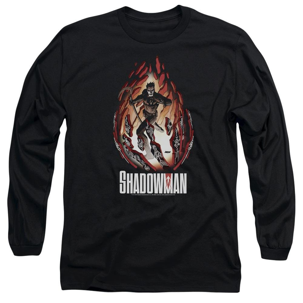 Shadowman Burst Adult Long Sleeve T-Shirt