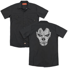 Shadowman Face Adult Work Shirt