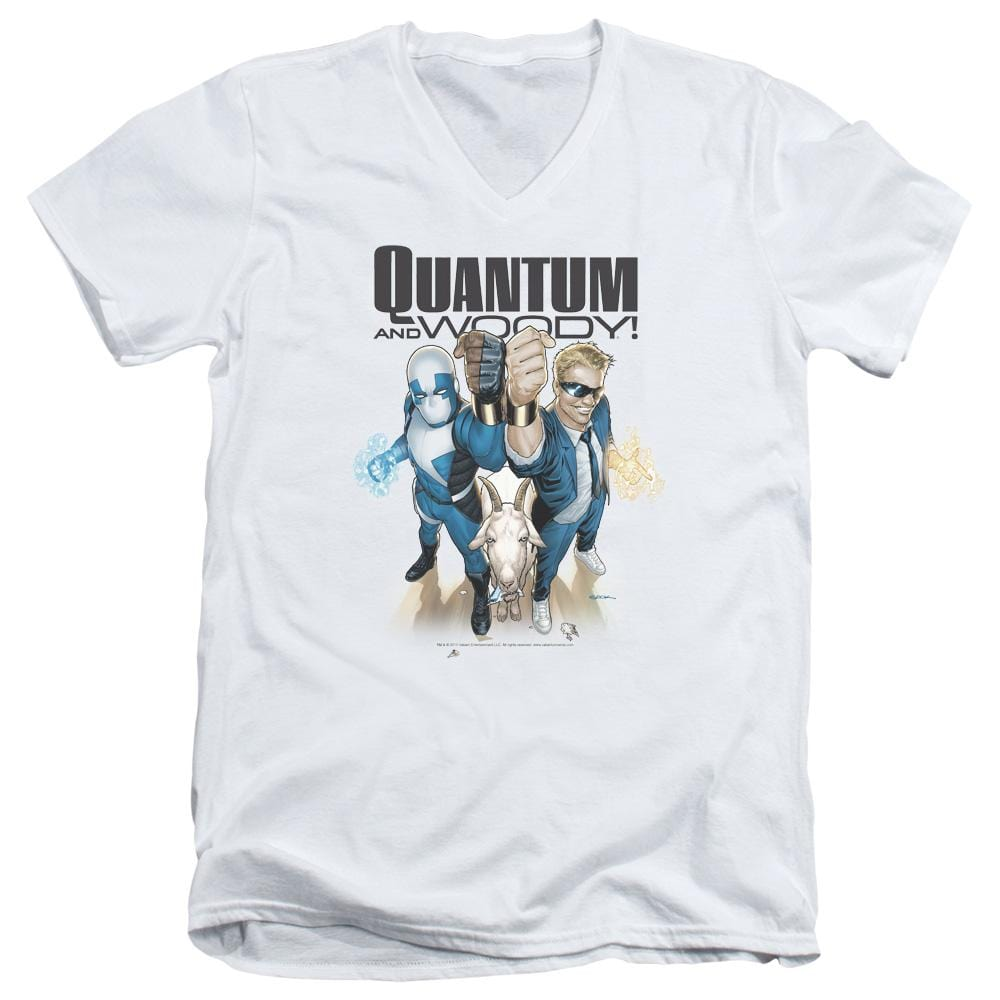 Quantum And Woody Quantum And Woody Adult V Neck T-Shirt