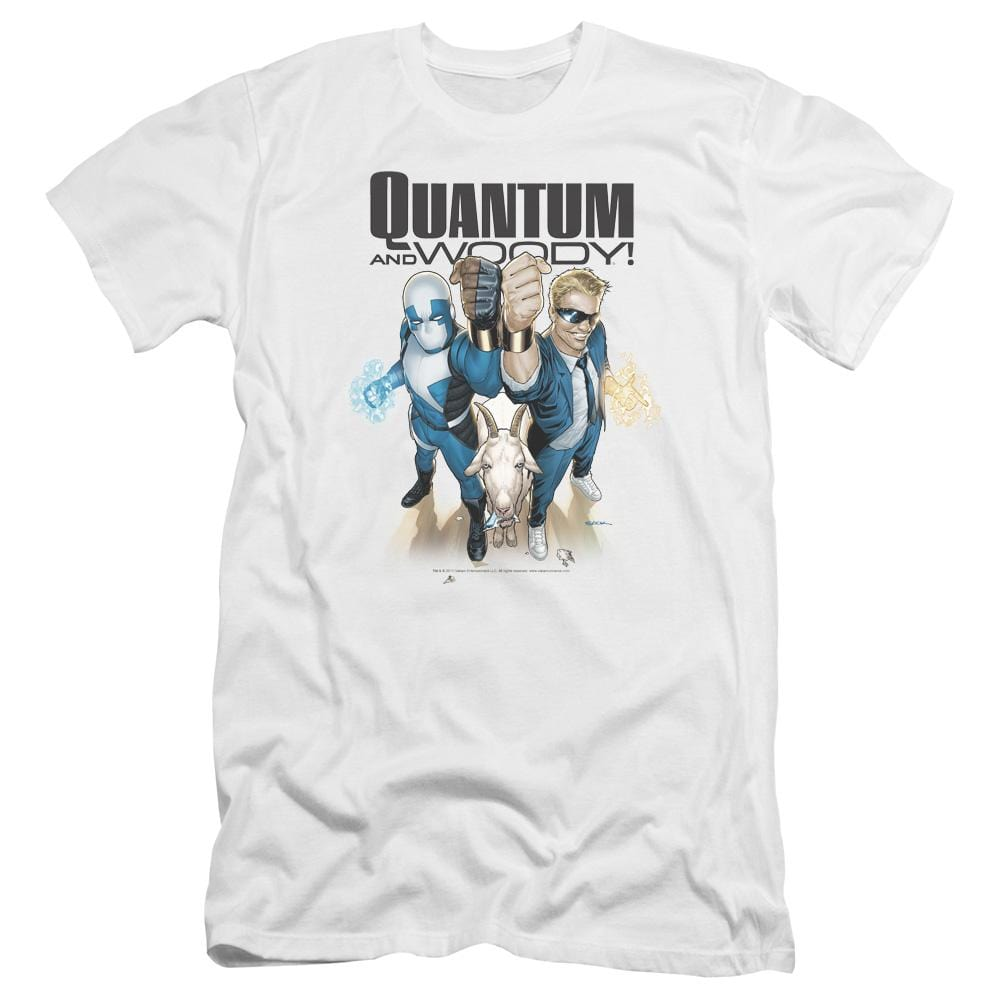 Quantum And Woody Quantum And Woody Premium Adult Slim Fit T-Shirt