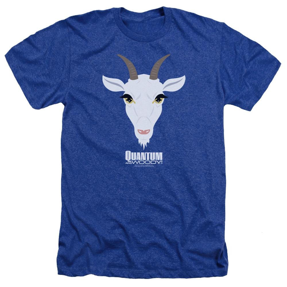 Quantum And Woody Goat Head Adult Regular Fit Heather T-Shirt