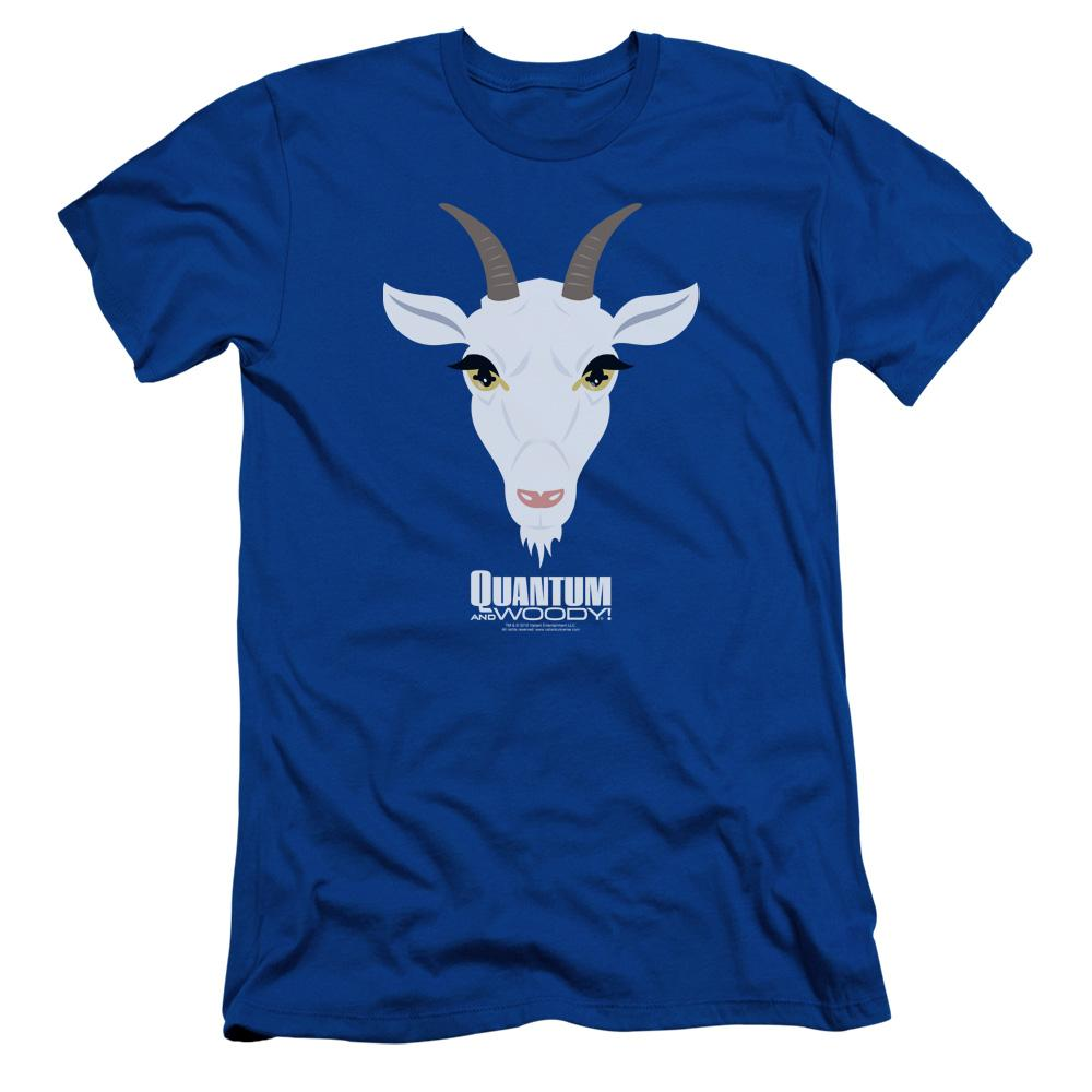 Quantum And Woody Goat Head Adult Slim Fit T-Shirt