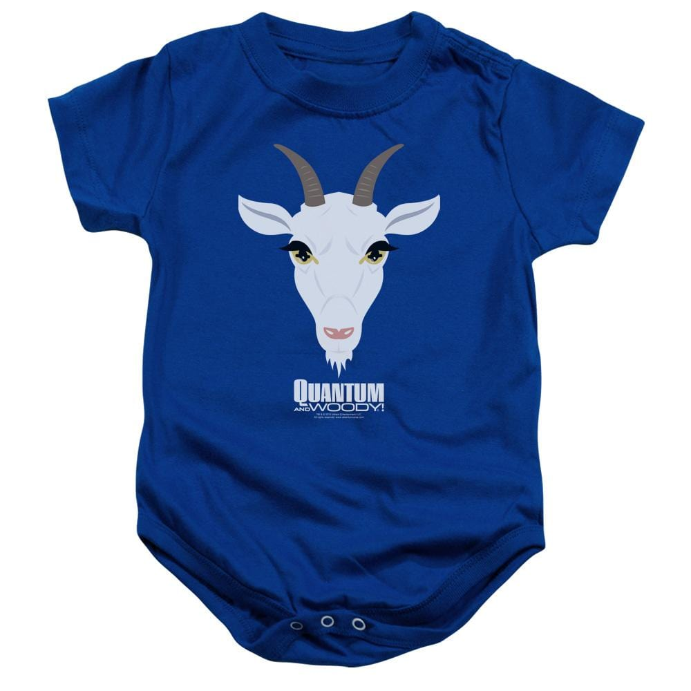 Quantum And Woody Goat Head Baby Onesie