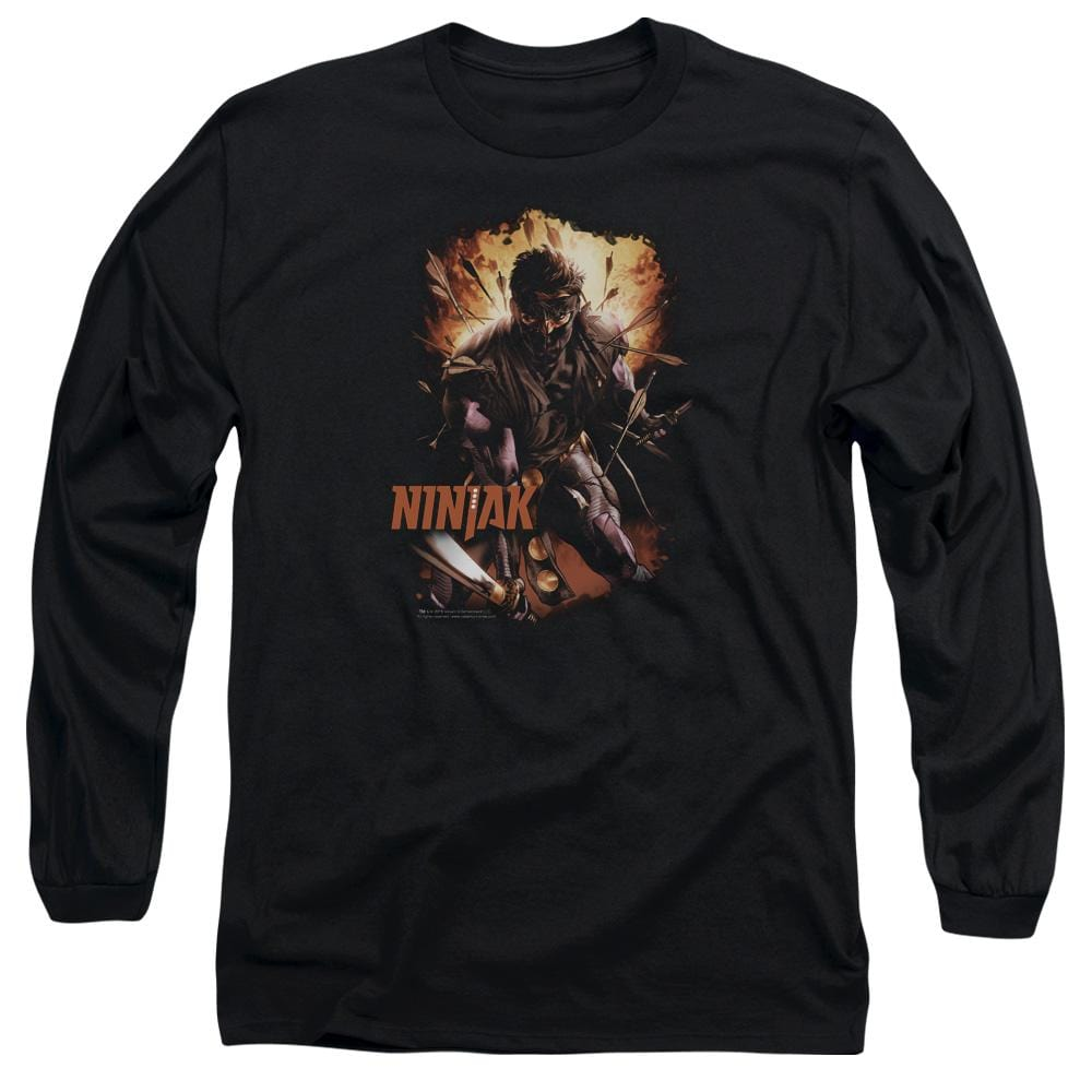 Ninjak Fiery Ninjak Adult Long Sleeve T-Shirt