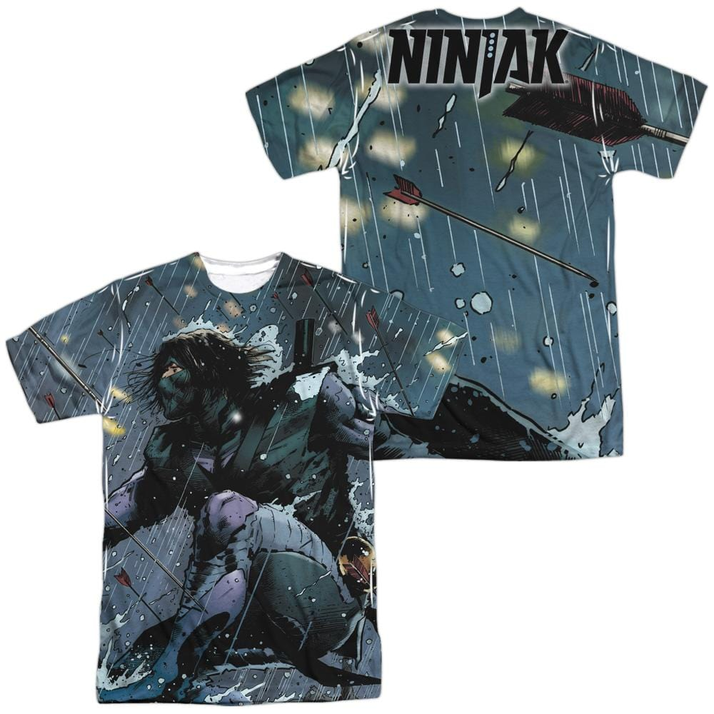 Ninjak - Raining Arrows Adult All Over Print 100% Poly T-Shirt
