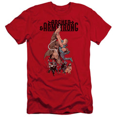 Archer & Armstrong Hang In There Premium Adult Slim Fit T-Shirt