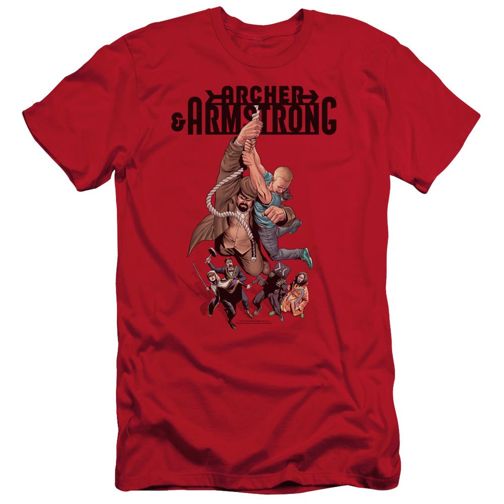 Archer & Armstrong Hang In There Adult Slim Fit T-Shirt