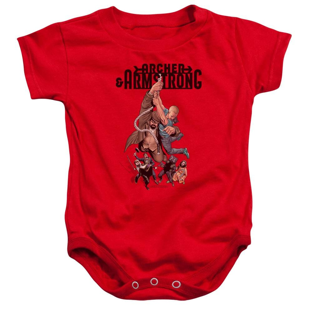 Archer & Armstrong Hang In There Baby Onesie