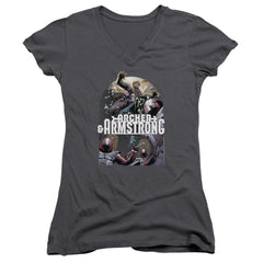 Archer & Armstrong Dropping In Junior V-Neck T-Shirt