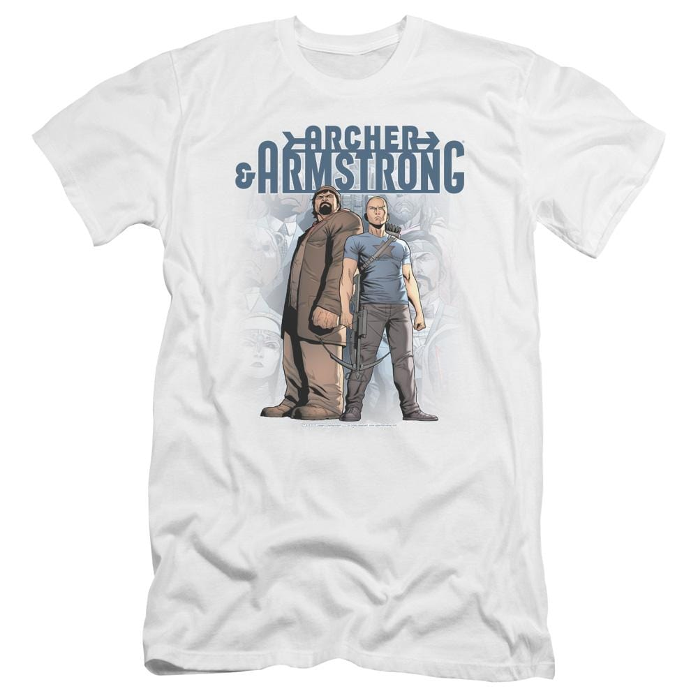 Archer & Armstrong Two Against All Premium Adult Slim Fit T-Shirt