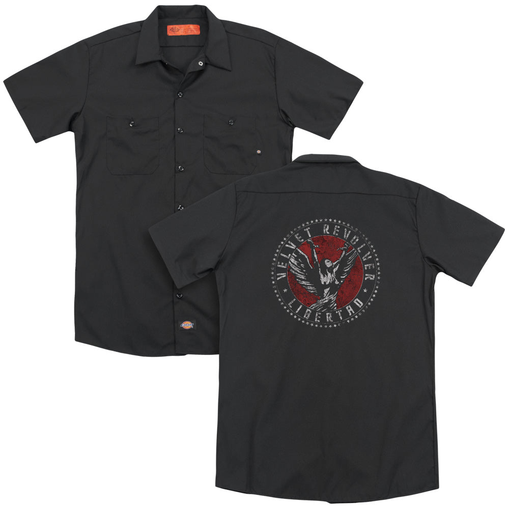 Velvet Revolver Circle Logo Adult Work Shirt