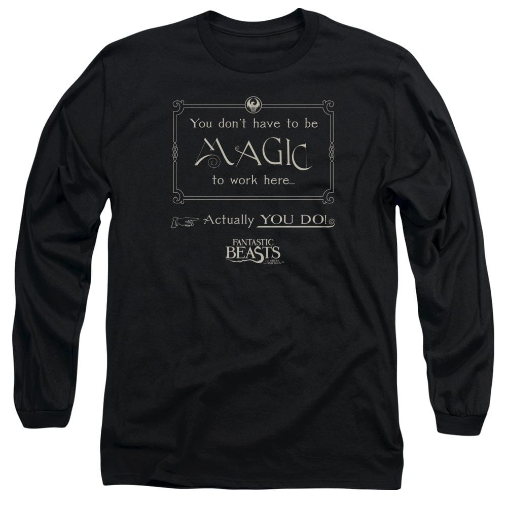 Fantastic Beasts - Magic To Work Here Adult Long Sleeve T-Shirt