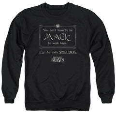 Fantastic Beasts - Magic To Work Here Adult Crewneck Sweatshirt