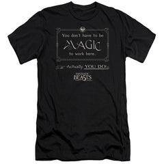Fantastic Beasts - Magic To Work Here Premium Adult Slim Fit T-Shirt