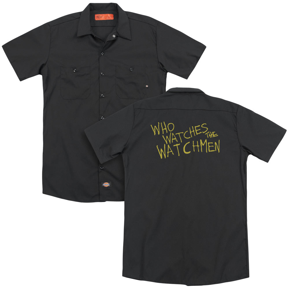 Watchmen - Who Watches  Adult Work Shirt