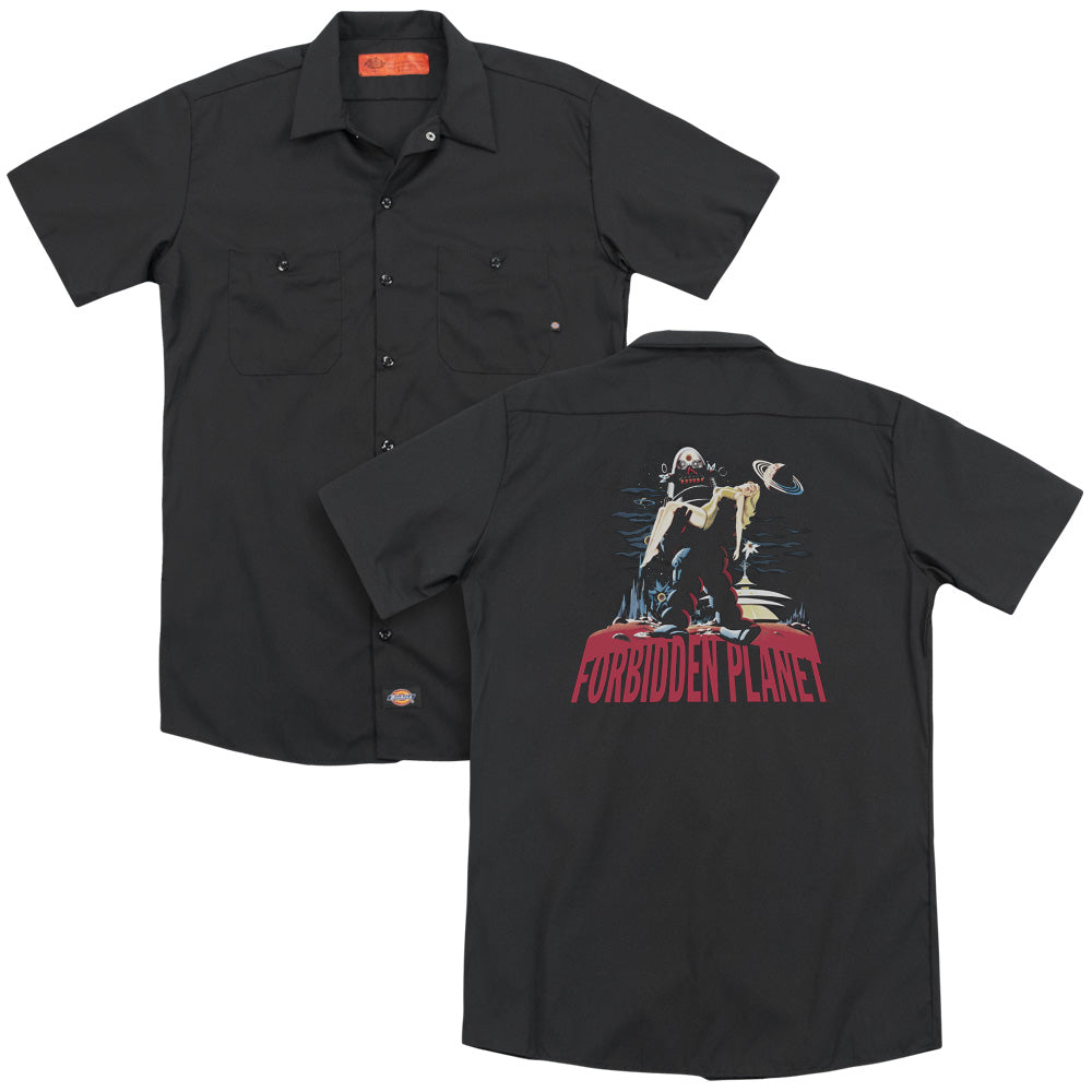 Forbidden Planet Robby And Woman Adult Work Shirt