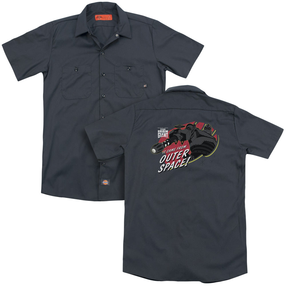 Iron Giant Outer Space Adult Work Shirt