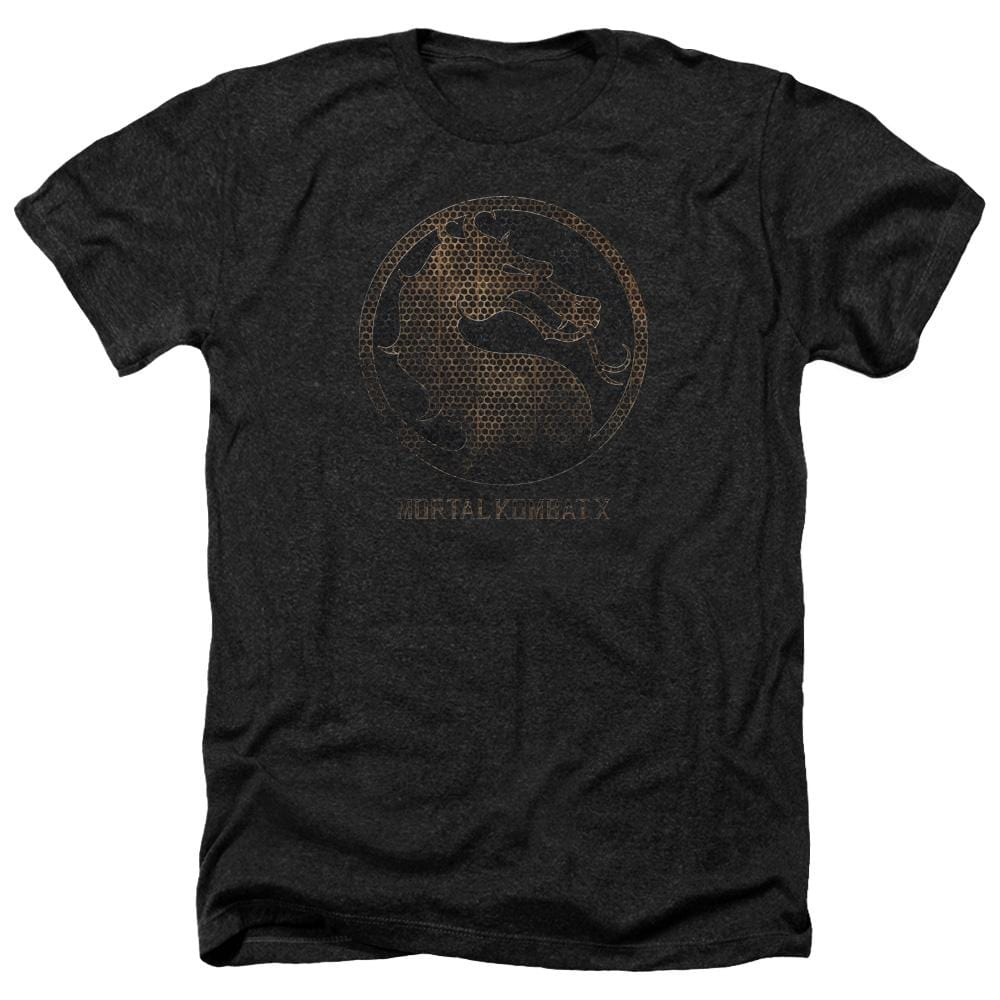 Mortal Kombat X Metal Seal Adult Regular Fit Heather T-Shirt