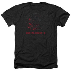 Mortal Kombat X Bloody Seal Adult Regular Fit Heather T-Shirt