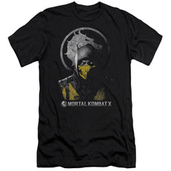 Mortal Kombat X Scorpion Bust Premium Adult Slim Fit T-Shirt