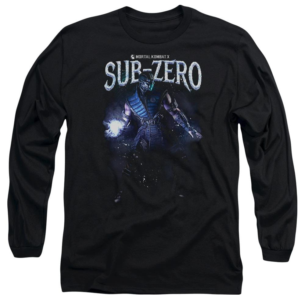 Mortal Kombat Sub-zero Adult Long Sleeve T-Shirt
