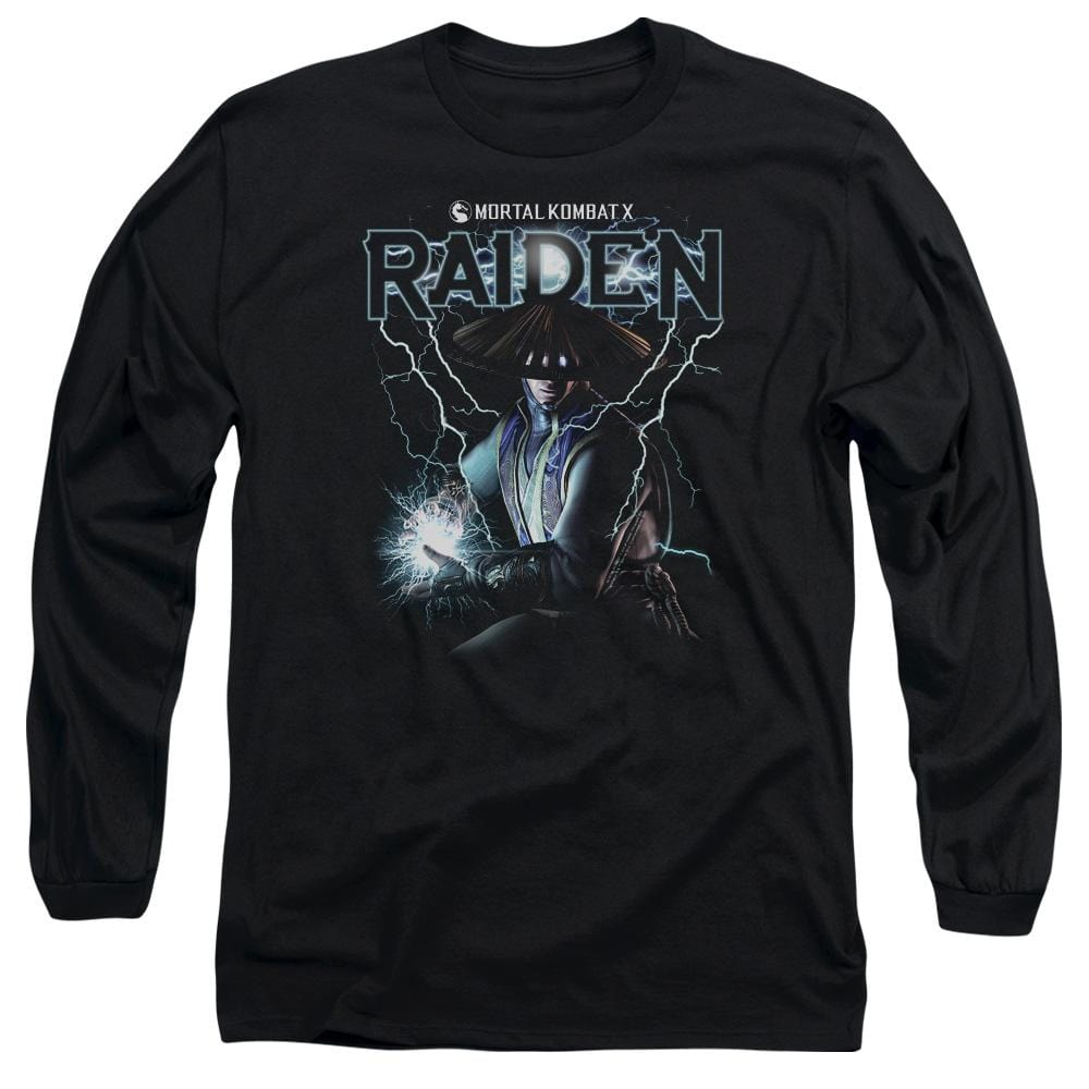 Mortal Kombat Raiden Adult Long Sleeve T-Shirt