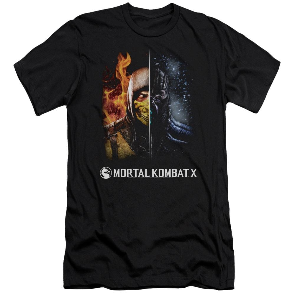 Mortal Kombat Fire And Ice Premium Adult Slim Fit T-Shirt