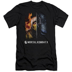 Mortal Kombat Fire And Ice Adult Slim Fit T-Shirt
