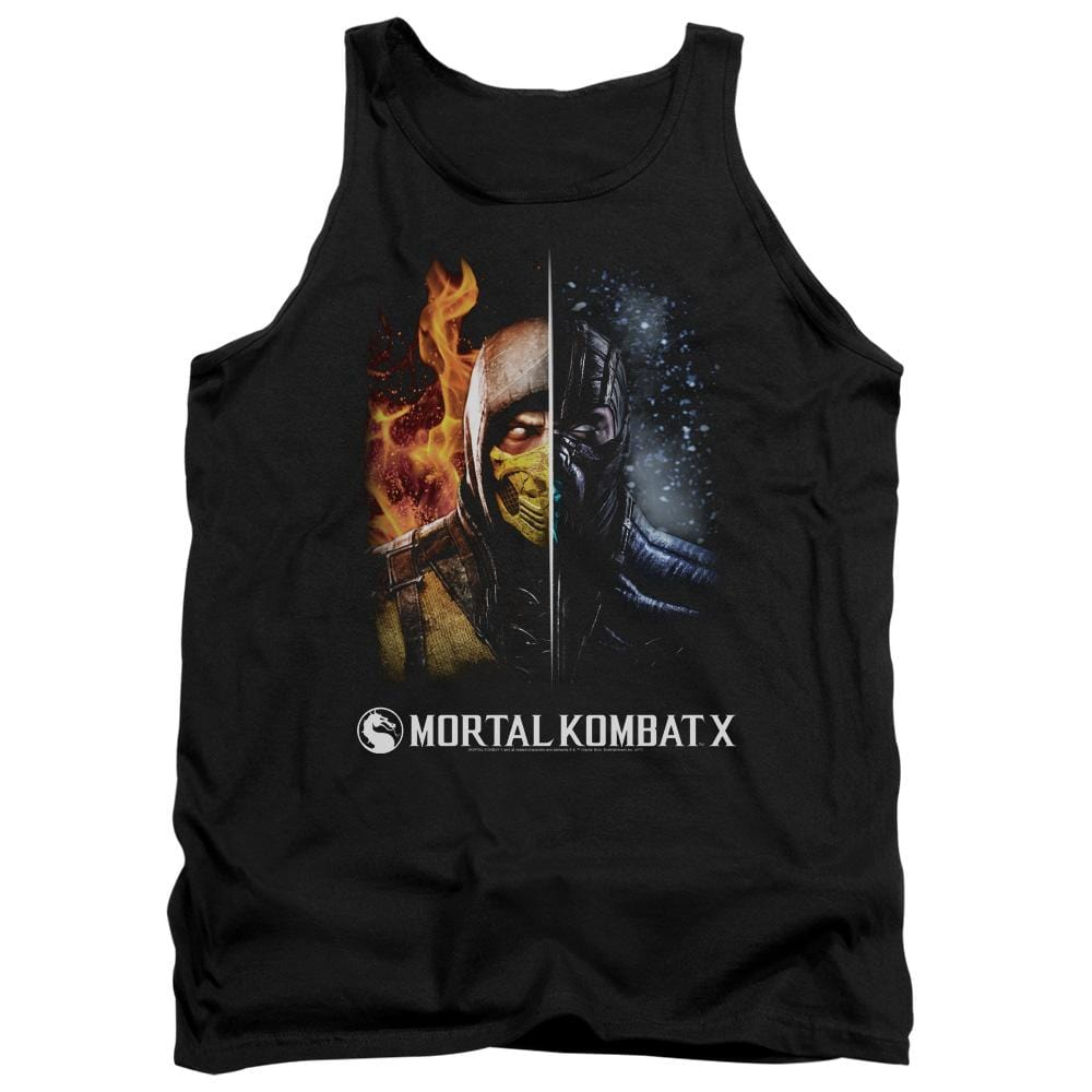 Mortal Kombat Fire And Ice Adult Tank Top