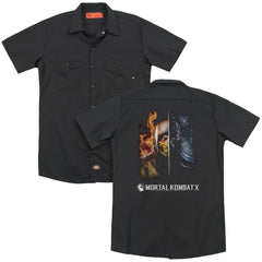 Mortal Kombat Fire And Ice Adult Work Shirt