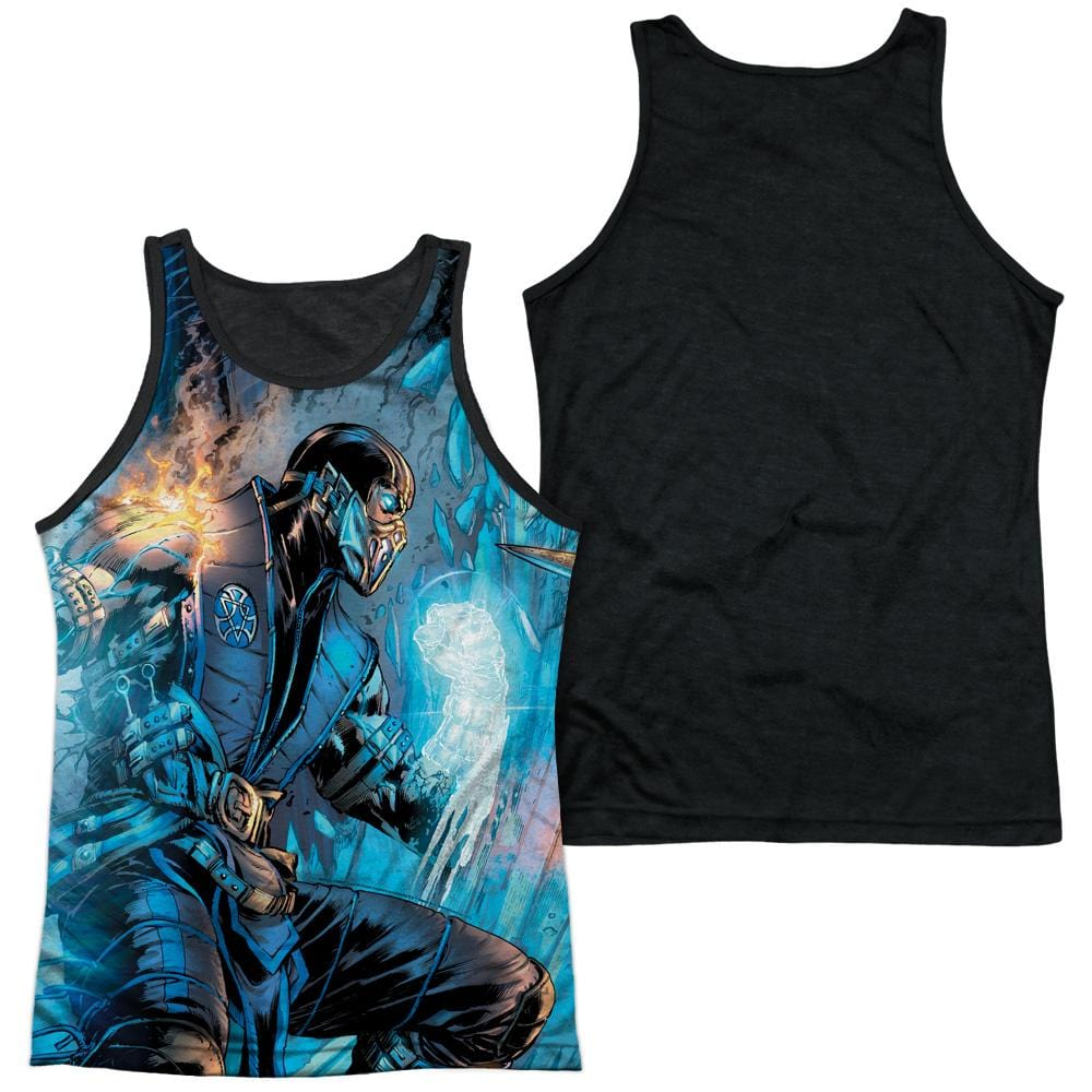 Mortal Kombat Kombat Comic Adult Black Back Tank top