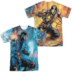 Mortal Kombat Kombat Comic Adult All Over Print 100% Poly T-Shirt