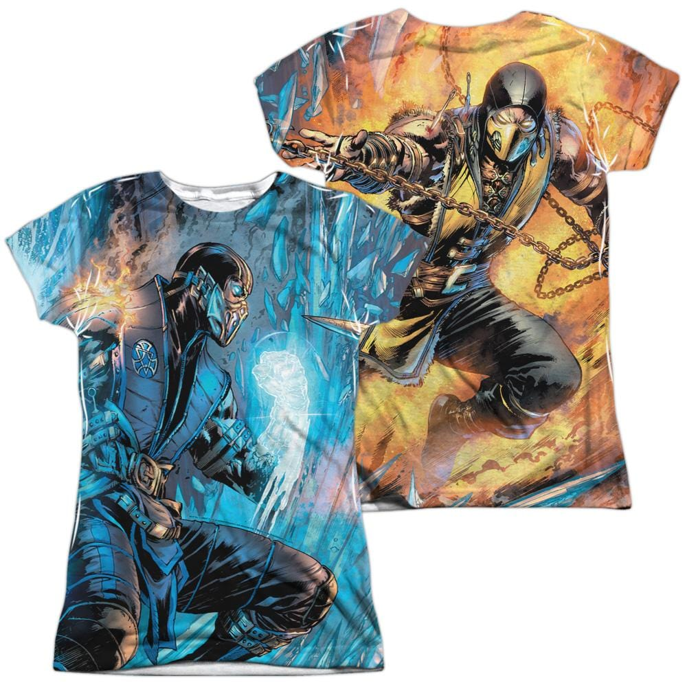 Mortal Kombat Kombat Comic Junior All Over Print 100% Poly T-Shirt