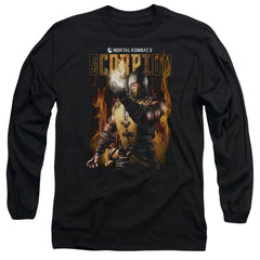 Mortal Kombat Scorpion Adult Long Sleeve T-Shirt