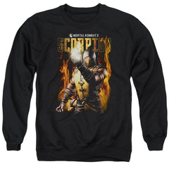Mortal Kombat Scorpion Adult Crewneck Sweatshirt