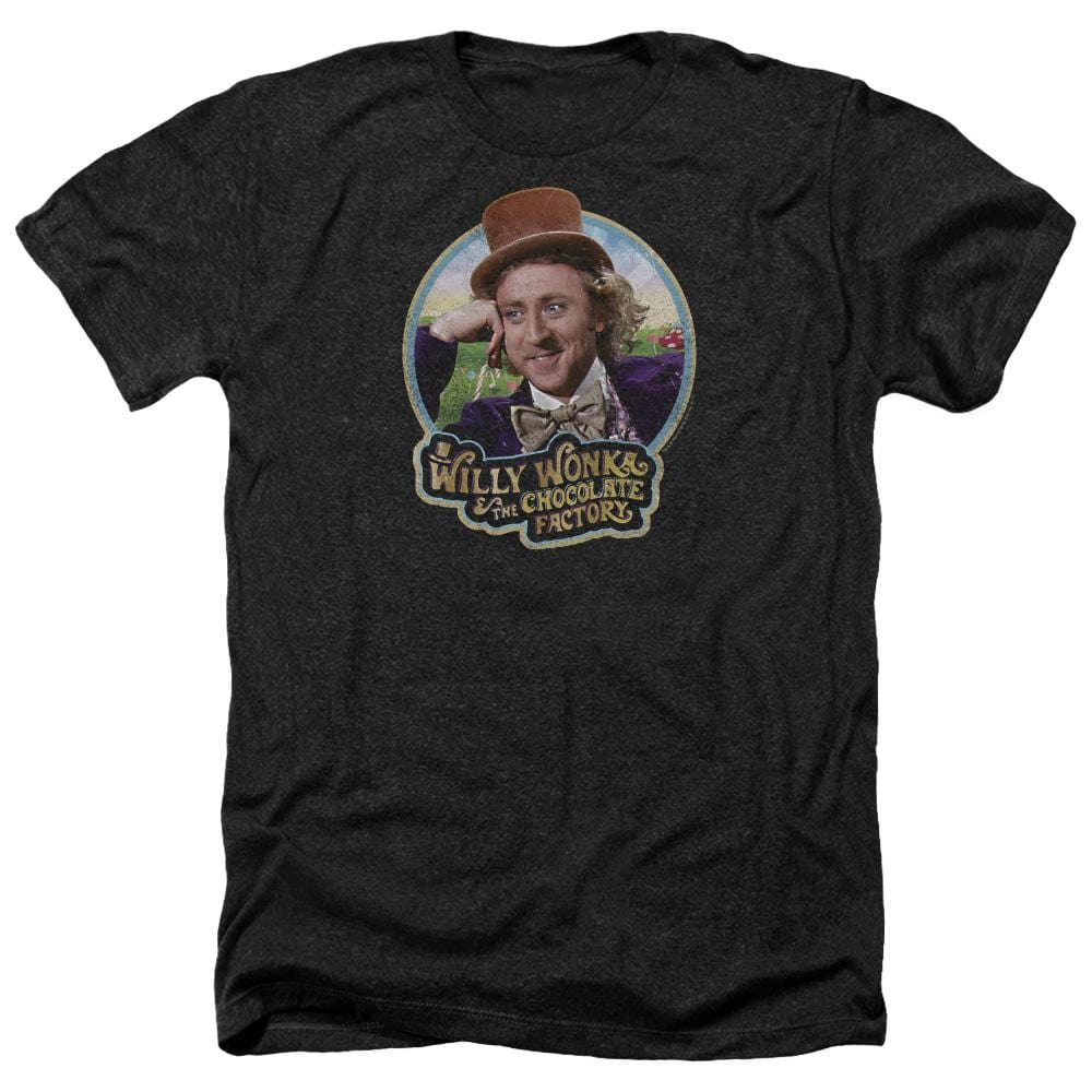 Willy Wonka And The Chocolate Factory Its Scrumdiddlyumptious Adult Regular Fit Heather T-Shirt