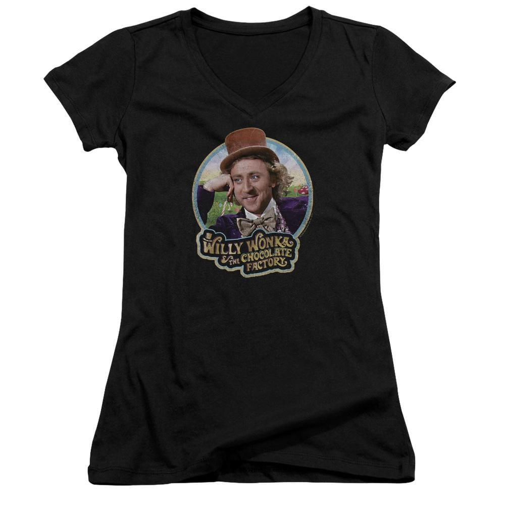 Willy Wonka And The Chocolate Factory Its Scrumdiddlyumptious Junior V-Neck T-Shirt