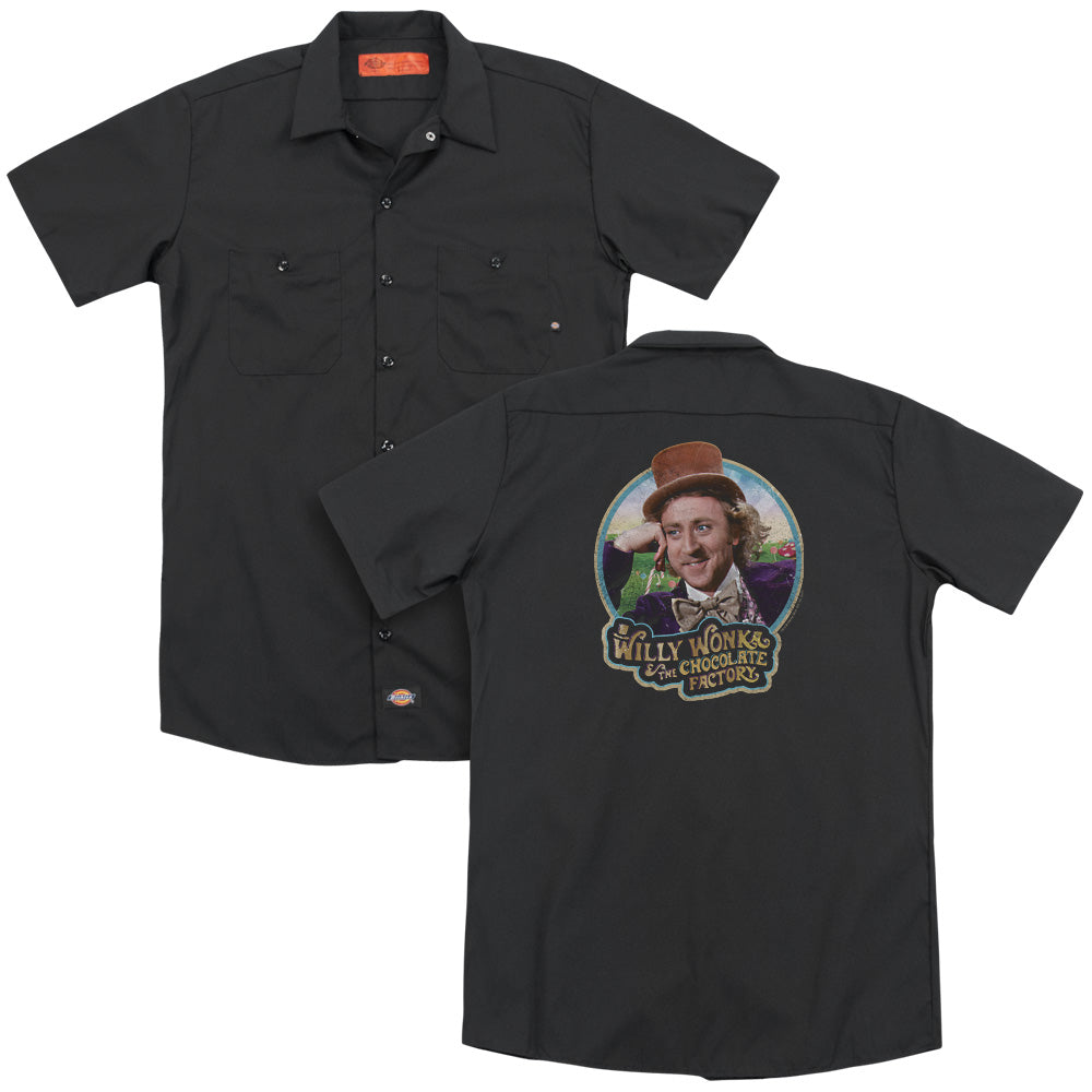 Willy Wonka And The Chocolate Factory Its Scrumdiddlyumptious Adult Work Shirt