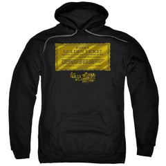 Willy Wonka And The Chocolate Factory Golden Ticket Adult Pull-Over Hoodie