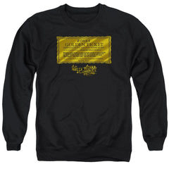 Willy Wonka And The Chocolate Factory Golden Ticket Adult Crewneck Sweatshirt