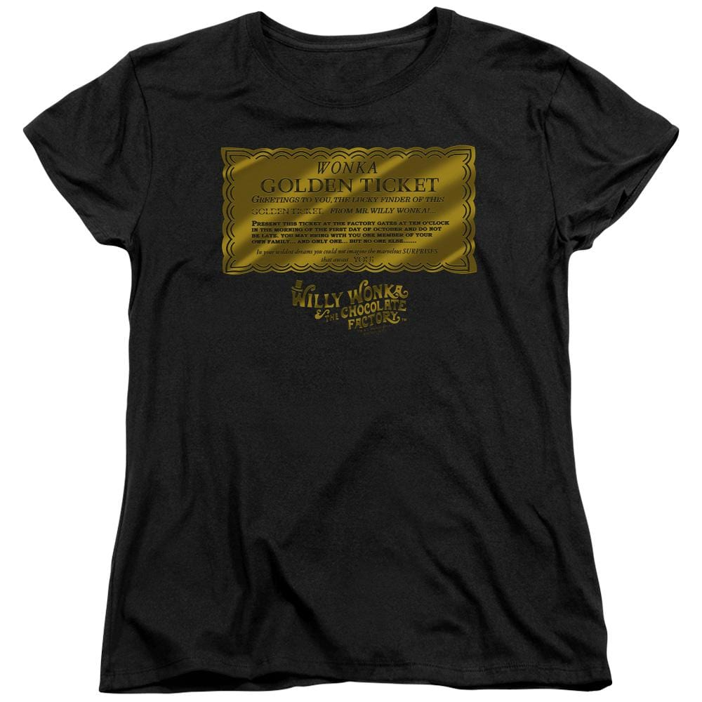 Willy Wonka And The Chocolate Factory Golden Ticket Women's T-Shirt