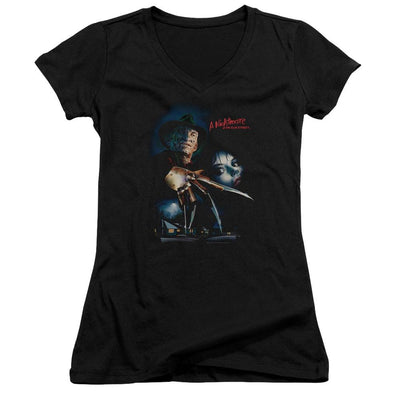 A Nightmare on Elm Street Elm Street Poster Juniors V-Neck T-Shirt