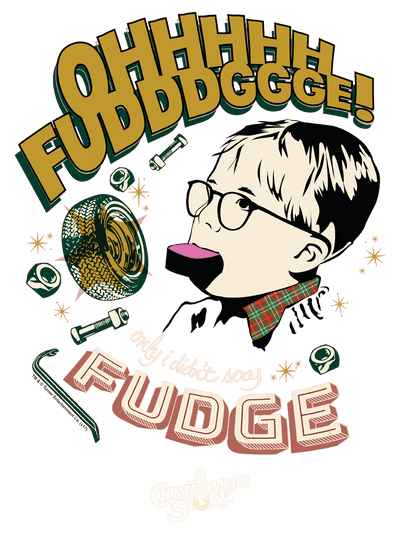 A Christmas Story Fudge Men's Slim Fit T-Shirt