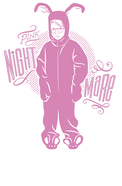 A Christmas Story Pink Nightmare Juniors T-Shirt