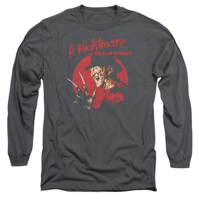 A Nightmare on Elm Street Freddy Circle Men's Long Sleeve T-Shirt