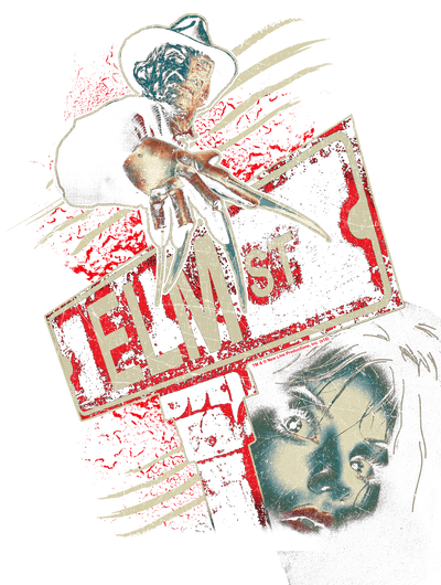 A Nightmare on Elm Street Elm St Juniors V-Neck T-Shirt