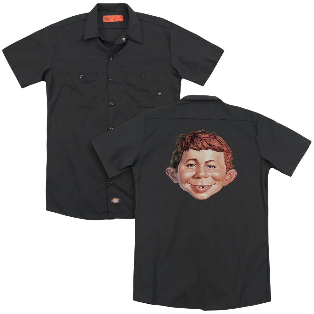 Mad Alfred Head Adult Work Shirt