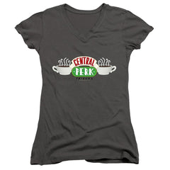 Friends Central Perk Logo Junior V-Neck T-Shirt