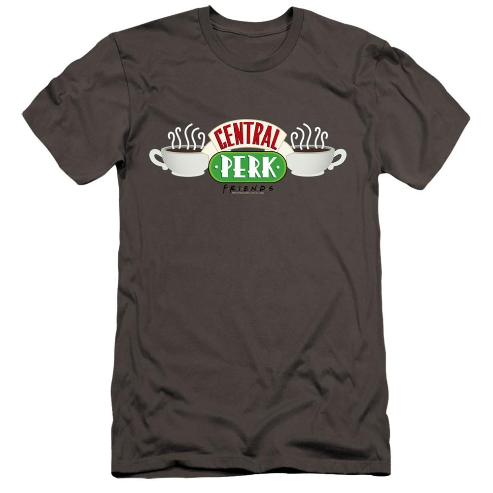 Friends Central Perk Logo Premium Adult Slim Fit T-Shirt